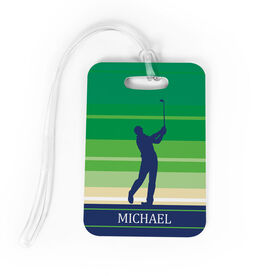 Golf Bag/Luggage Tag - Personalized Male Golfer
