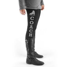 Figure Skating High Print Leggings Coach