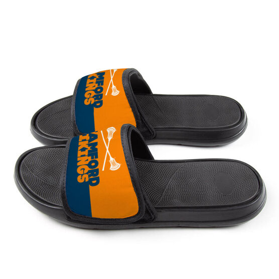 Guys Lacrosse Repwell™ Slide Sandals - Team Name Colorblock