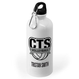 Volleyball 20 oz. Stainless Steel Water Bottle - Custom Logo