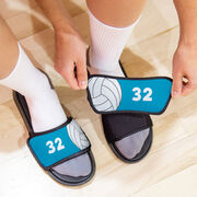 Volleyball Repwell® Sandal Straps - Ball and Number Reflected