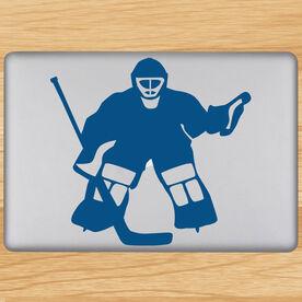 Hockey Goalie Removable ChalkTalkGraphix Laptop Decal