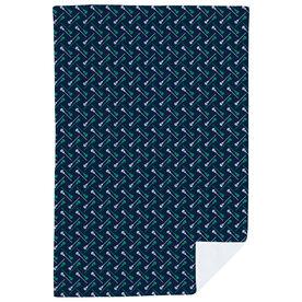 Guys Lacrosse Premium Blanket - Lacrosse Stick Herringbone