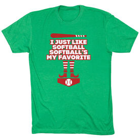 Softball Short Sleeve T-Shirt - Softball's My Favorite