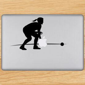 Playing The Field Softball Removable ChalkTalkGraphix Laptop Decal