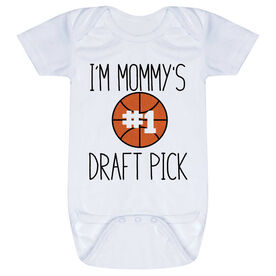 Basketball Baby One-Piece - I'm Mommy's #1 Draft Pick