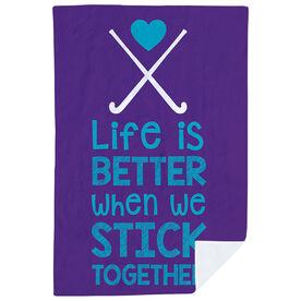 Field Hockey Premium Blanket - Stick Together