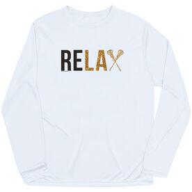 Girls Lacrosse Long Sleeve Performance Tee - Relax