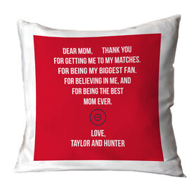 Wrestling Throw Pillow - Dear Mom Heart