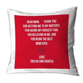 Wrestling Throw Pillow - Dear Mom Heart