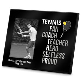 Tennis Photo Frame Tennis Father Words