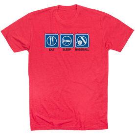 Baseball Tshirt Short Sleeve Eat Sleep Baseball