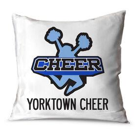 Cheerleading Throw Pillow Custom Cheer Logo With Team Name