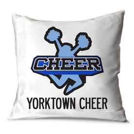 Cheerleading Throw Pillow Custom Cheer Logo With Team Name