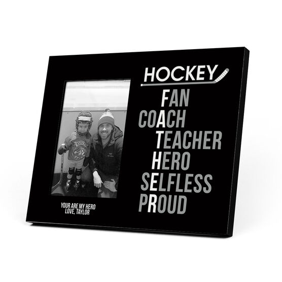 Hockey Photo Frame - Hockey Father Words