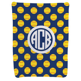 Softball Baby Blanket - Softball Pattern