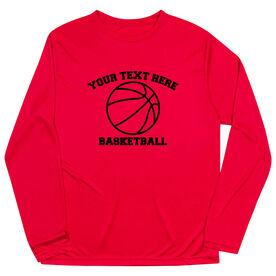 Basketball Long Sleeve Performance Tee - Custom Basketball