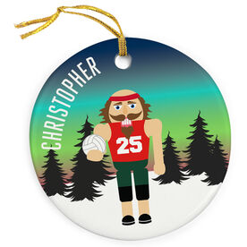 Volleyball Porcelain Ornament Nutcracker