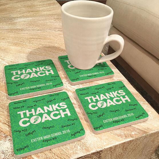 Track & Field Stone Coasters Set of Four - Coach (Autograph)