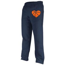 Basketball Fleece Sweatpants Basketball Heart