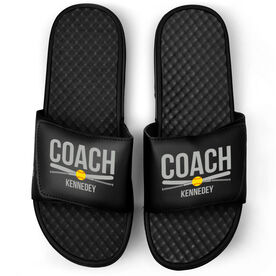 Softball Black Slide Sandals - Coach