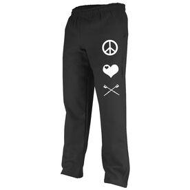 Peace Love Crew (Symbols) Fleece Sweatpants