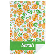 Personalized Premium Blanket - Pineapple Crazy