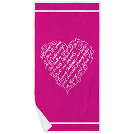 Running Premium Beach Towel - Makes Us Stronger