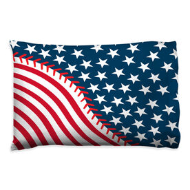 Baseball Pillowcase - American Ball Flag