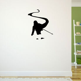 Skiing Removable ChalkTalkGraphix Wall Decal - Back Country Skier