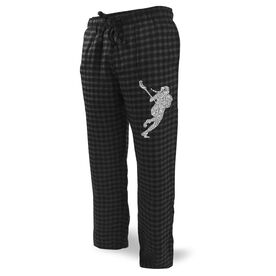 Girls Lacrosse Lounge Pants Lacrosse Girl Silhouette