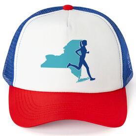 Running Trucker Hat - New York Female Runner