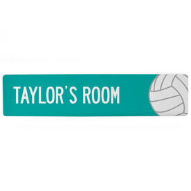 "Volleyball Aluminum Room Sign - Your Room Volleyball (4""x18"")"