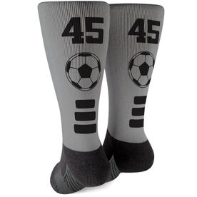 Soccer Printed Mid-Calf Socks - Team Colors