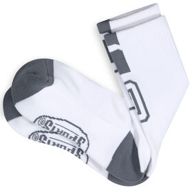 Team Number Woven Mid-Calf Socks - White/Gray