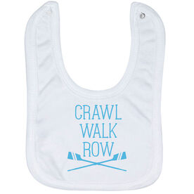 Crew Baby Bib - Crawl Walk Row