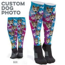 Printed Knee-High Socks - Custom Dog Photo