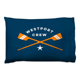 Crew Pillowcase - Personalized Crossed Oars