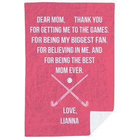 Field Hockey Premium Blanket - Dear Mom Heart