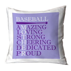 Baseball Throw Pillow - Mother Words