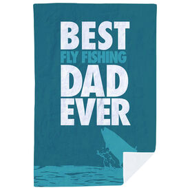 Fly Fishing Premium Blanket - Best Dad Ever