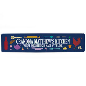 "Personalized Aluminum Room Sign - Grandma's Kitchen (4""x18"")"