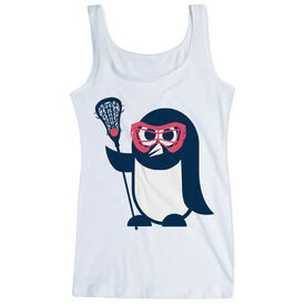Girls Lacrosse Women's Athletic Tank Top Penguin