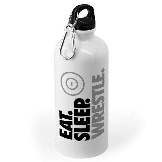 Wrestling 20 oz. Stainless Steel Water Bottle - Eat. Sleep. Wrestle.