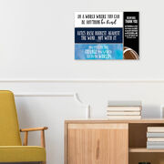 """Football 12.5"""" X 4"""" Removable Wall Tile - Dear Dad (Vertical)"""
