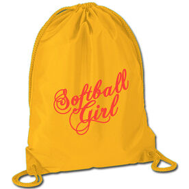 Softball Sport Pack Cinch Sack Softball Girl Script