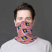 Softball Multifunctional Headwear - American Flag Bats Pattern RokBAND