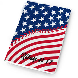 Baseball Notebook American Flag Ball