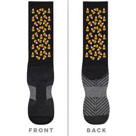 General Sports Printed Mid-Calf Socks - Candy Corn