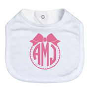 Personalized Baby Bib - Monogram with Bow
